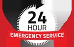24 Hour Emergency Service Logo